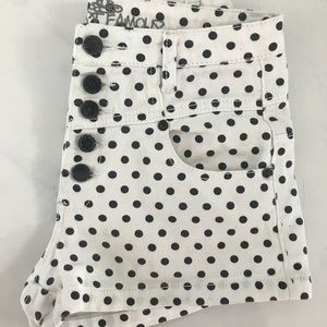Almost Famous Polka dot shorts (black and white)
